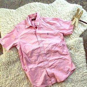 Ralph Lauren Pink Gingham Collared Shirt